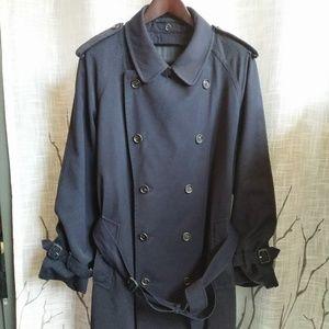 Vintage Navy Burberry Trench Coat XXL